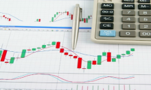 Candlestick chart on a Table